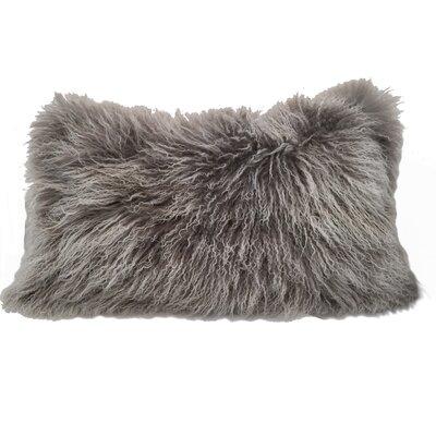 Kimbell Tibetan Snowtop Wool Throw Pillow Color: Gray