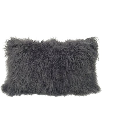 Kimbell Tibetan Snowtop Wool Throw Pillow Color: Charcoal