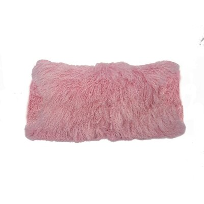 Kimbell Tibetan Snowtop Wool Throw Pillow Color: Pink
