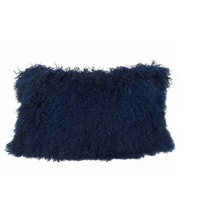 Kimbell Tibetan Snowtop Wool Throw Pillow Color: Navy