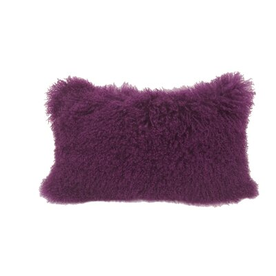 Kimbell Tibetan Snowtop Wool Throw Pillow Color: Purple