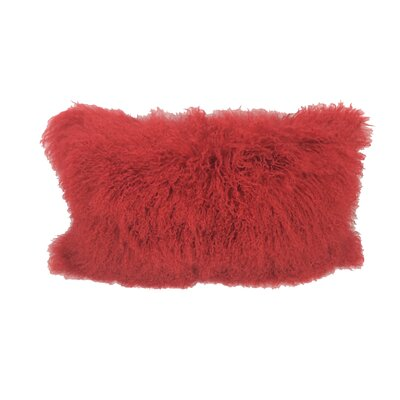 Kimbell Tibetan Snowtop Wool Throw Pillow Color: Red