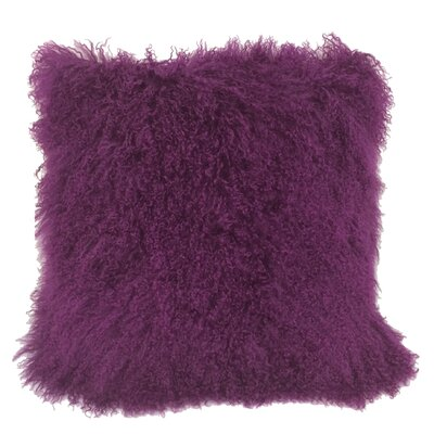 Kimberlin Tibetan Snow Top Wool Throw Pillow Color: Purple, Size: 24 x 24