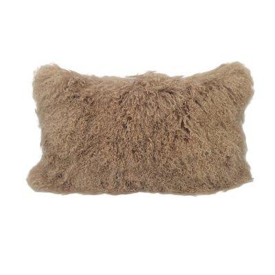 Kimbell Tibetan Snowtop Wool Throw Pillow Color: Spice