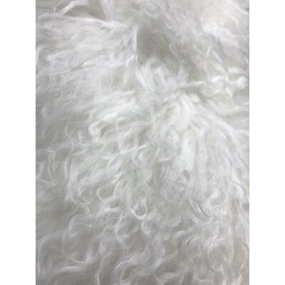 Kimberlin Tibetan Snow Top Wool Throw Pillow Color: White, Size: 20 x 20