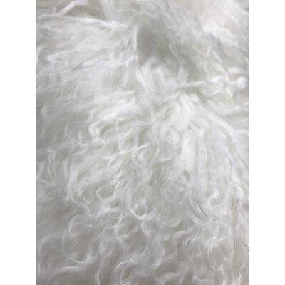 Kimberlin Tibetan Snow Top Wool Throw Pillow Color: White, Size: 24 x 24