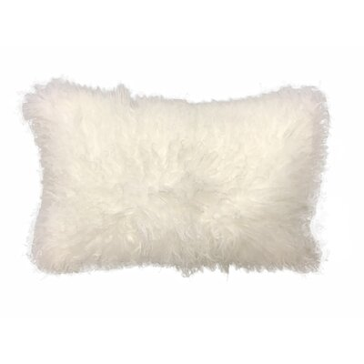 Kimbell Tibetan Snowtop Wool Throw Pillow Color: White