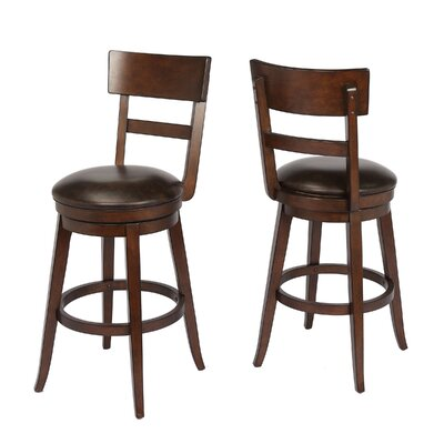 Caskey 29 Swivel Bar Stool Frame Color: Walnut