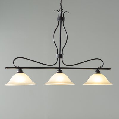 Birdsall 3-Light Kitchen Island Pendant Finish/Shade Finish: Wilshire/Oil Rubbed Bronze