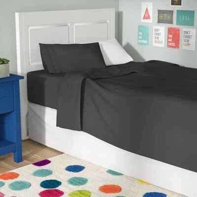 Beth Twin-XL 3pc Sheet Set Color: Gray