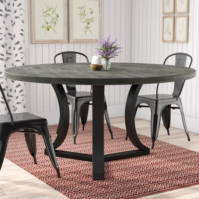 Louisa Modern Rounded Wood Dining Table Finish: Dry Cement