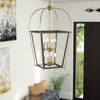 Hedstrom 8-Light Foyer Pendant Finish: English Bronze/Warm Brass