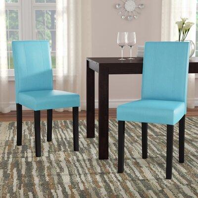 Trombetta Parson Chair Upholstery: Blue