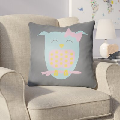 Colinda Owl Throw Pillow Size: 18 H x 18 W x 4 D, Color: Grey