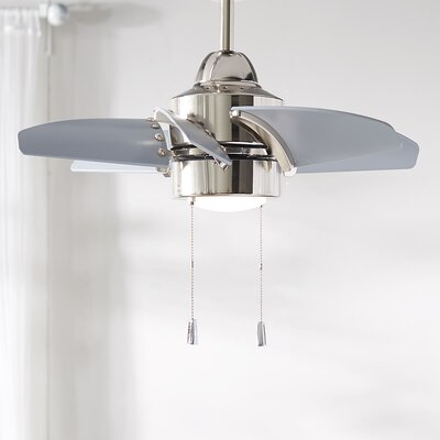 24 Saito 6 Blade Ceiling Fan Finish: Polished Nickel with Brushed Nickel Blades