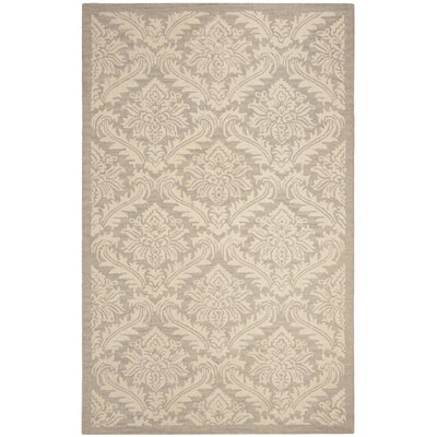 Preas Hand-Tufted Wool Brown/Ivory Area Rug Rug Size: Round 5