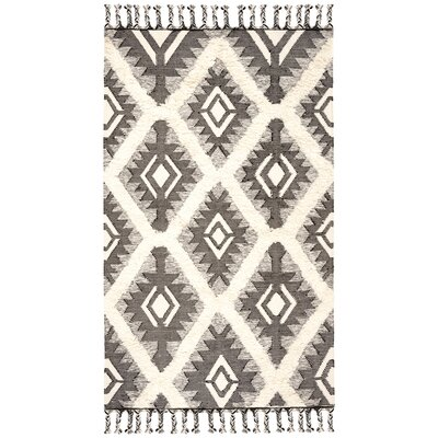 Cedarvale Hand-Knotted Brown/Ivory Area Rug Rug Size: Rectangle 5 x 8