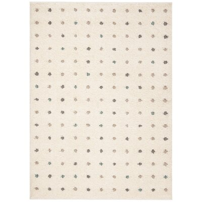 Hatley Shag Cream Area Rug Rug Size: Rectangle 8 x 10