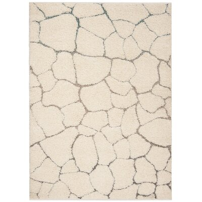 Grunwald Shag Cream Area Rug Rug Size: Rectangle 8 x 10