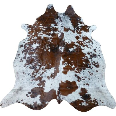 One-of-a-Kind Chatham Cowhide Brown/White Area Rug