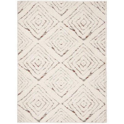 Chou Shag Cream Area Rug Rug Size: Rectangle 4 x 6