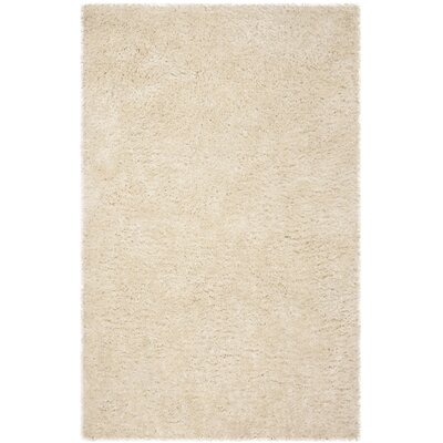 Hauge Shag Hand-Tufted Beige Area Rug Rug Size: Rectangle 4 x 6