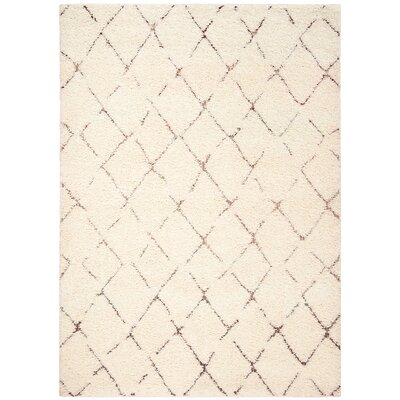Copenhagen Shag Cream Area Rug Rug Size: Rectangle 8 x 10