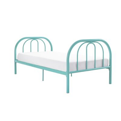 Dimatteo Platform Bed Size: Twin, Bed Frame Color: Teal