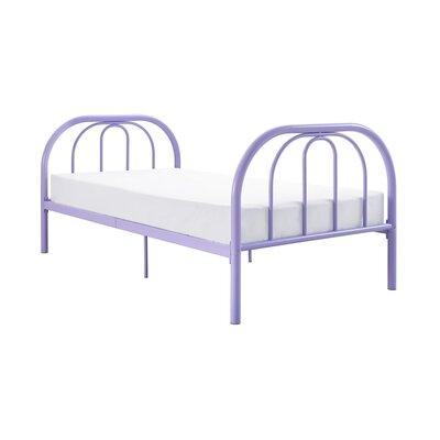 Dimatteo Platform Bed Size: Twin, Bed Frame Color: Purple