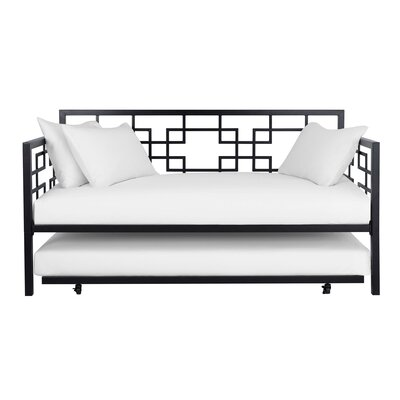 Hanna Daybed with Trundle Color: Black
