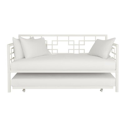 Hanna Daybed with Trundle Color: White