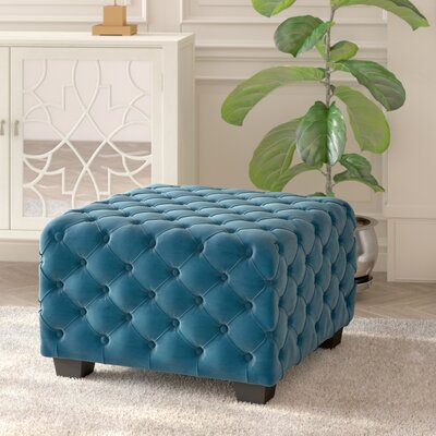 Crane Cocktail Ottoman Upholstery: Dark Teal