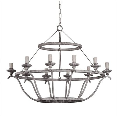 Pollard Oval Basket 10-Light Candle-Style Chandelier