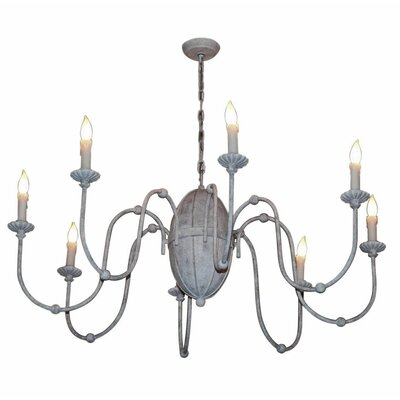 Poppe 8-Light Candle-Style Chandelier