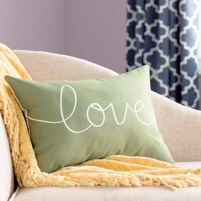 Ursula Love Mix and Match Lumbar Pillow Color: Green