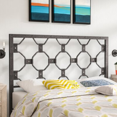 Demby Open-Frame Metal Headboard Size: Queen