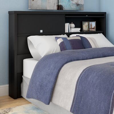 Oleanna Bookcase Headboard Color: Black