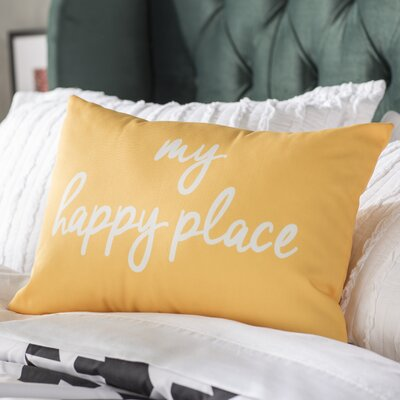 Degeorge My Happy Place Lumbar Pillow Color: Dandelion