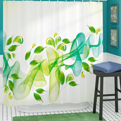 Begley Abstract Floral Decor Shower Curtain Size: 69 W x 84 L