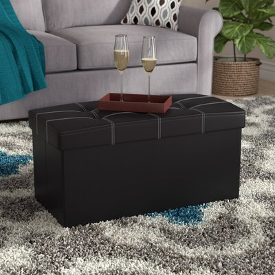 Nicholson Collapsible Tufted Storage Ottoman Finish: Black