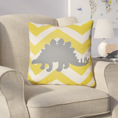 Colinda Dinosaur Throw Pillow Size: 18 H x 18 W x 4 D, Color: Yellow/Cream