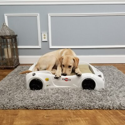 Dog Car Bed Color: White