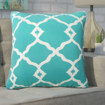 Wilkerson Outdoor Throw Pillow Color: Turquoise