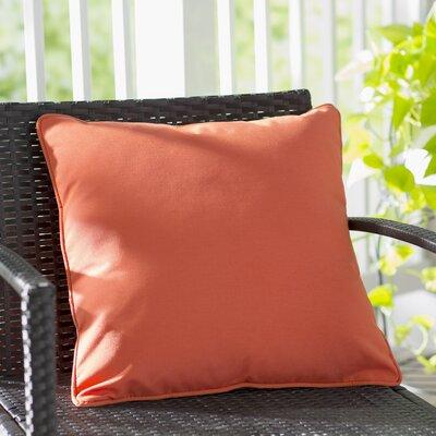 Thorson Modern Outdoor Throw Pillow Color: Orange