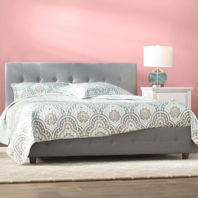 Amherst Upholstered Platform Bed Size: Queen, Color: Gray