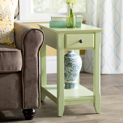 Hillyard End Table With Storage Color: Light Green
