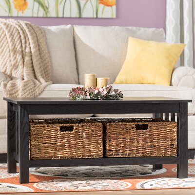 Denning Storage Coffee Table Color: Black