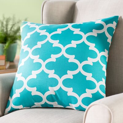 Cashwell Indoor/Outdoor Throw Pillow Color: Teal, Size: Large