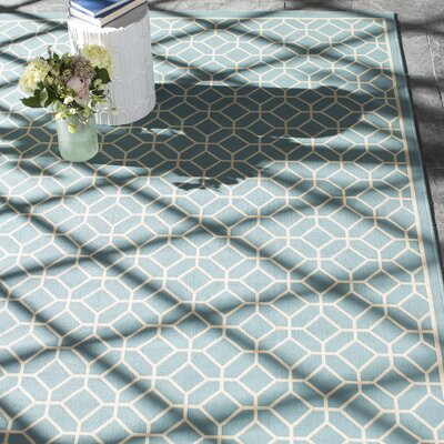 Hearn Blue Indoor/Outdoor Area Rug Rug Size: 710 x 1010