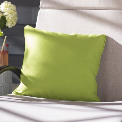 Thorson Modern Outdoor Throw Pillow Color: Green